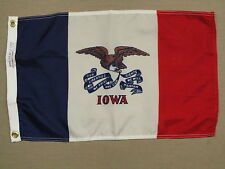 "Iowa State Indoor Outdoor Dyed Nylon Boat Flag Grommets 12"" X 18"""