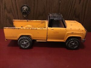 """Vintage Tonka Pickup Truck 1970's Orange And Black Good Played With Cond. 14.5"""""""