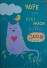 GET WELL CARD HOPE YOU FEEL MUCH BETTER SOON TOP QUALITY A10865/S2