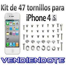 Kit Juego Set Pack de Tornillos Completo para iPhone 4S Arandelas Tornillo
