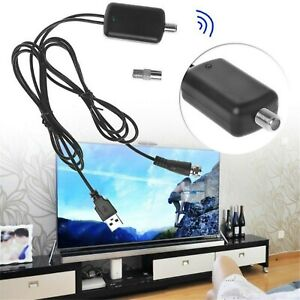 HDTV Aerial Amplifier Signal Booster Cable Digital TV Antenna USB Power Kit UK