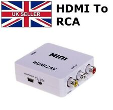 HDMI to 3 RCA AV Composite Full HD Video Converter Adapter 720p/1080p PAL/NTSC