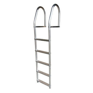 Dock Edge 2075-F Fixed Eco Weld Free Aluminum 5-Step Ladder