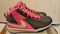 Nike Team Hustle DT HiTop Tennis Shoes Sneakers Pink/Black Girls/Boys Size 5.5 Y