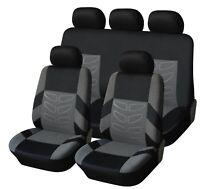 Komplettsatz Schonbezüge Sitzbezüge Grau Schwarz Hochwertig Komfort für