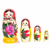 Russian Doll Matryoshka 4 pcs Not a Fake from Russia Handmade and Painting