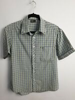 Lee Men's Short Sleeve Summer Casual Check Shirt Size L