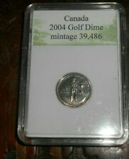 CANADA 2004 GOLF 10 CENTS DIME LOW MINTAGE ONLY 39.486