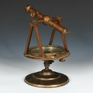 Antique Blattner & Adam Brass Surveyors Transit St. Louis 19th Century Rare