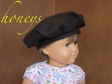 "Soft Wool FRENCH RED TAM BERET-Like Hat Made for 15""-18""  American Girl Dolls"
