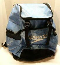 Speedo Backpack Swim Bag Light Blue Black Large
