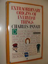 Panati's Extraordinary Origins of Everyday Things by Charles Panati 1987