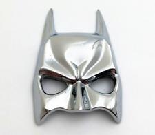 Chrome Metal Batman Mask Dark Knight Car Motorcycle Emblem Badges Decal Sticker