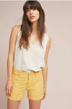 Sanctuary Mustard Yellow Rolled Utility Shorts Size 25 NWT $69