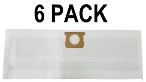 6-PK Paper Bags for SHOP VAC Fits All Tank Sizes 5-8 Gallon Replacement