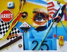 PETER KLASEN Regard / Cible / Arret 3D HAND SIGNED  LITHO GERMAN-FRENCH ARTIST
