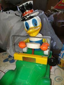 Rare Ancien Jouet plastique canard voiture à tracter EDUCALUX