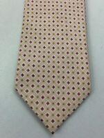 Brioni Men's Beige Tie 100% Silk Made In Italy