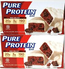 2 Boxes Pure Protein 10.56 Oz Red Velvet 190 Calories 6 Count 20g Protein Bar