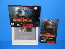 Mortal Kombat II (Super Nintendo / SNES, 1994) **NICE BOX NEARLY CIB, COMPLETE**