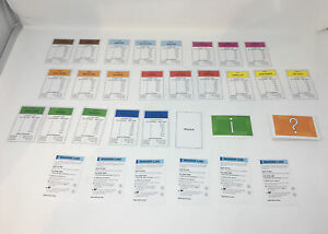 MONOPOLY CITY Game Cards and Property Cards Replacement Pieces Parts