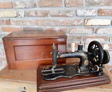 Antique 1880 Singer Sewing Machine 12k Fiddle base Hand Crank Acanthus Leaves