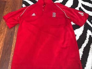 Adidas Boston Red Sox MLB Baseball Short Sleeve Polo Shirt Men's L Large