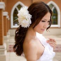 Fleur De Plume Broche Fascinator Corsage Pour Les Boules Mariage Clip Cheveux FE