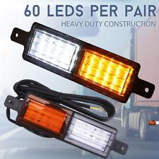 2 X UNIVERSAL LED BULL BAR FRONT PARKER INDICATOR LIGHTS PARK LAMP SEALED AU