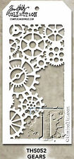 New! Gears Pattern Layering Stencil - Stampers Anonymous Tim Holtz Collection