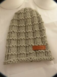 Brimless Waffle Light Brown Beanie Hat -hand made hat- 9in x 12in- Brand New