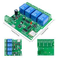 DC 7-32V 4 Channel WiFi  Delay Relay Switch APP Wireless Remote Control Module