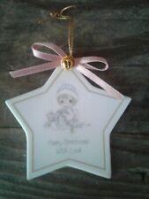 Vintage Precious Moments/Godchild/Hallmark Ornament,Star,Girl,Cat