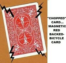 Chopped Chop Magnetic Red Bicycle Back Poker Size Card For Pk Magnet Magic Trick
