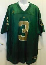 Notre Dame Fighting Irish #3 XXL Football Jersey (Green) Adidas