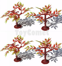 4 pcs Red Maple Tree Models Diorama Prop Toy Soldiers Army Men Accessories