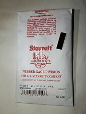 New Starrett Webber Micro Accurate Gage RSM 2.003 A1 Grade EDP No. 91249