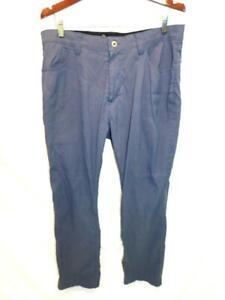 Eddie Bauer 38 x 30 Dark Blue Adventure Trek Pants Mens Hike Camp Phone Pocket