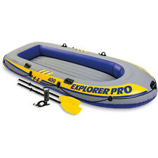 Intex Inflatable Explorer Pro 400 Four-Person Boat with Oars and Pump (58360WL)