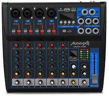 Audibax MG06 USB Mesa Mezclas 6 canales con Bluetooth, MP3 ,USB Rec y Efectos