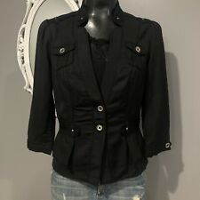 Size 4 - WHITE HOUSE BLACK MARKET Cotton Blend 3 Qtr Sleeve Blazee Jacket