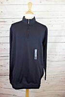 NEW Club Room Men's Quarter-Zip Fleece Sweater in Deep Black Sz XL/T MSRP $59