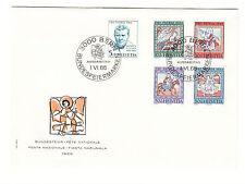 Schweiz  FDC Ersttagsbrief 1966 Deckengemälde Mi.Nr.836-40