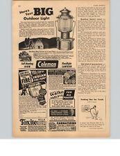 1947 PAPER AD Lantern Coleman Floodlight Indian Fire Pump Self-Heating Iron