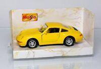 Maisto Porsche Carrera Car Special Edition 1:43 Yellow Top Boxed