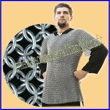 Aluminium Chainmail Shirt, Medieval Butted Aluminum Chainmail Haubergeon Armor