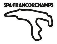 Spa francorchamps course circuit. voiture de vinyle autocollant belgique grand prix formula one