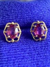 14K Rhodolite Garnet Earrings No Backs