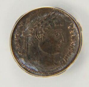 Constantine the great, ANACS AU 55,, AD 327-328,AE Follis,Trier Mint, AC006