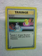 Carte pokémon trainer switch 95/102 commune set de base wizard carte anglaise
